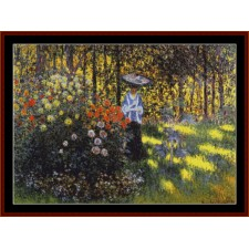 Woman with Parasol in Garden, 2nd edition