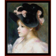 Girl in Pink and Black Hat