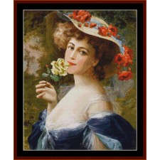 Lady with White Rose