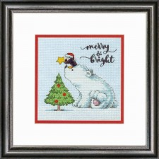 CROSS STITCH KIT MERRY & BRIGHT BEAR