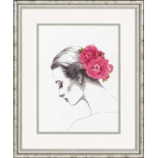 CROSS STITCH KIT FLORAL PORTRAIT