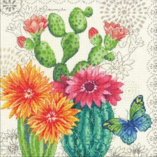 CROSS STITCH KIT CACTUS BLOOM
