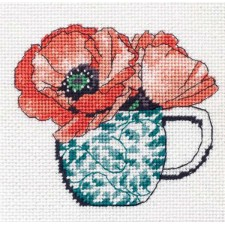 FLORAL TEACUP NEEDLEPOINT