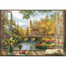 Autumn Church Frame