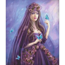 Mini Woman And Butterfly