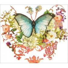 Ornament Butterfly Port Mauve NO BK
