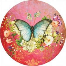 Ornament Butterfly Port Mauve