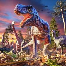 Mini T-Rex Attack