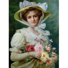 Mini Elegant Lady With A Bouquet