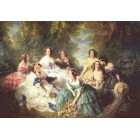 Empress Eugenie Surrounded By Ladies