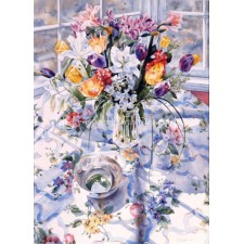 April Bouquet With Bowl