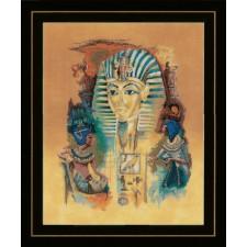 Counted cross stitch kit Tutankhamun