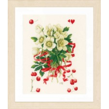 Counted cross stitch kit A hellebores gift