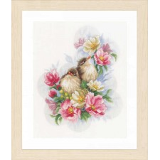 Counted cross stitch kit Flower branch guardians
