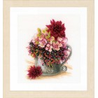 Counted cross stitch kit Pink blush bouquet