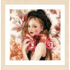 Counted cross stitch kit I Hold Roses