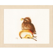 Counted cross stitch kit Young blackbird