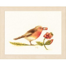 Counted cross stitch kit Robin