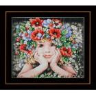 Diamond painting kit Girl with flowers