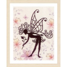 Counted cross stitch kit Flower fairy silhouette