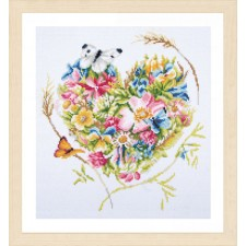 Diamond painting kit A heart of flowers