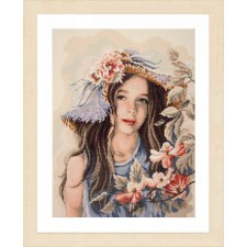 Diamond painting kit Little girl with hat