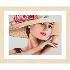 Diamond painting kit Lady with hat