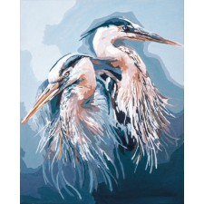 Paint by Number kit Great blue herons