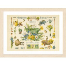 Counted cross stitch kit Spring in the garden
