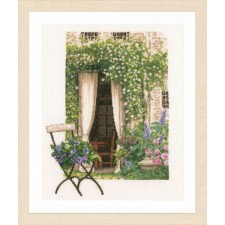 Counted cross stitch kit Our garden view