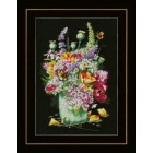 Counted cross stitch kit Flower power bouquet