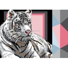 Canvas White Tiger