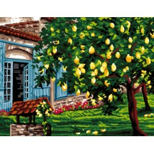 Canvas Lemon trees
