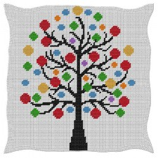 Cushion Colored tree