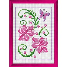 Cross Stitch Kit Floral