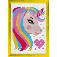 Cross Stitch Kit Unicorn heart