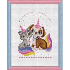 Cross Stitch Kit Unicorn Love