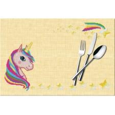 Cross Stitch Kit Placemat Unicorn