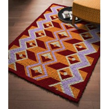 Latch hook carpet Cube