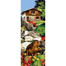 Mountain marmot at Chalet