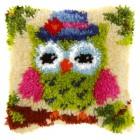 Latch hook cushion Small Owl