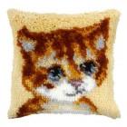 Latch hook cushion Small Kitten