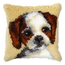Latch hook cushion Small Dog