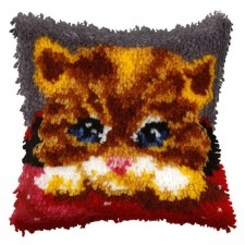 Latch hook cushion Small Kitten