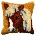 Latch hook cushion Pony