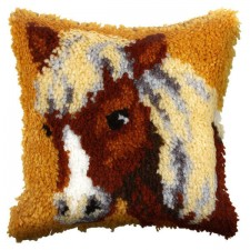 Latch hook cushion Pony