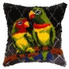Latch hook cushion Toucan