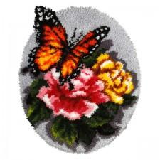 Latch hook cushion Butterffly