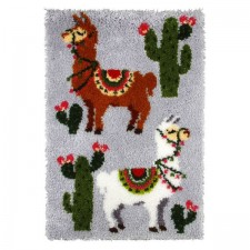 Latch hook kit Llamas