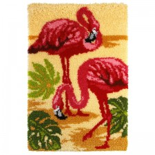Latch hook kit Flamingos